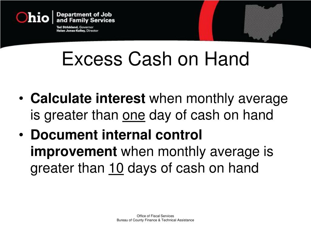 Excess Cash on Hand
