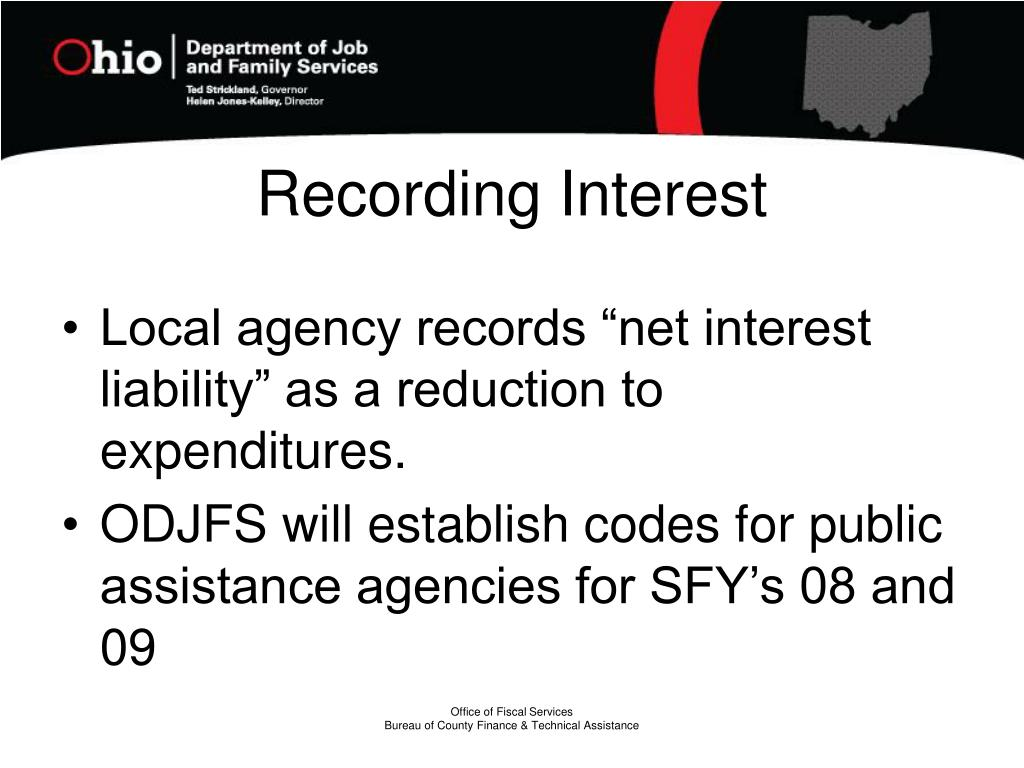 Recording Interest