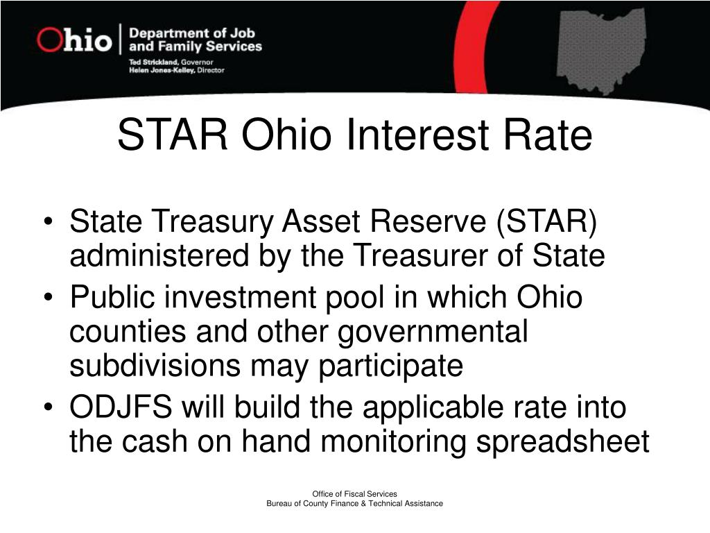 STAR Ohio Interest Rate