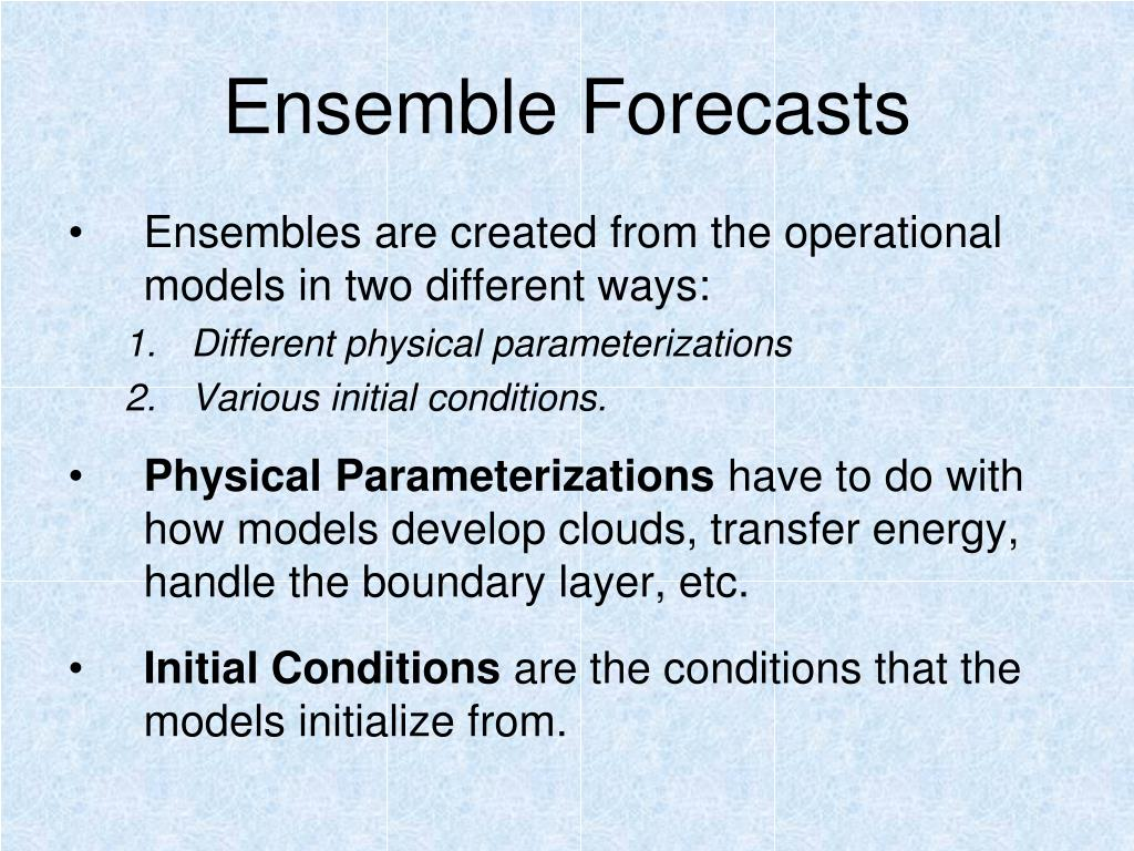 Ensemble Forecasts