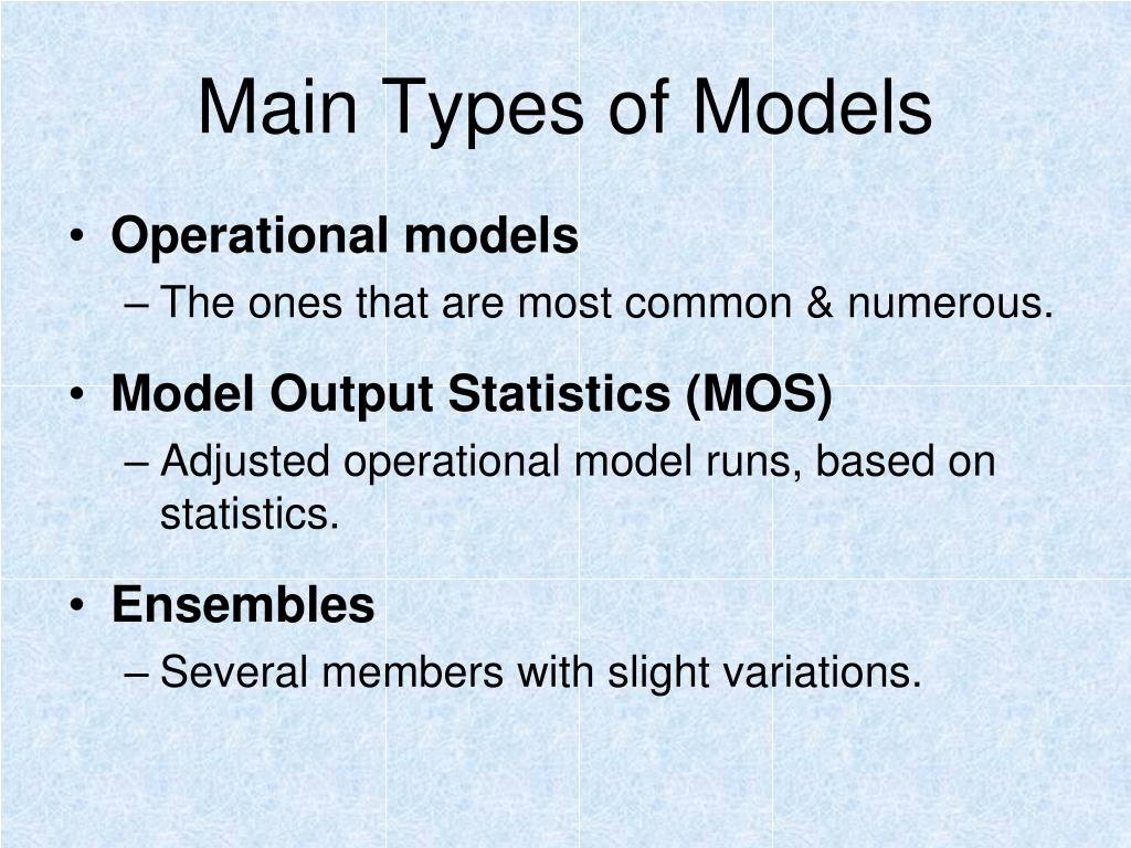 Main Types of Models