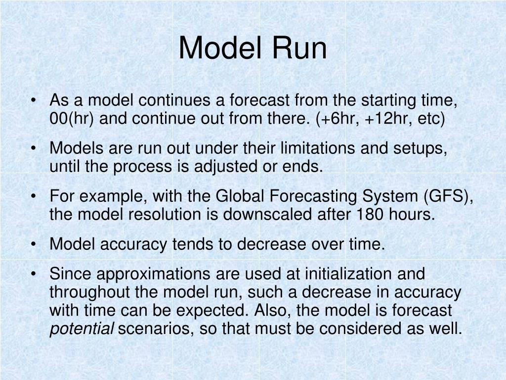 Model Run