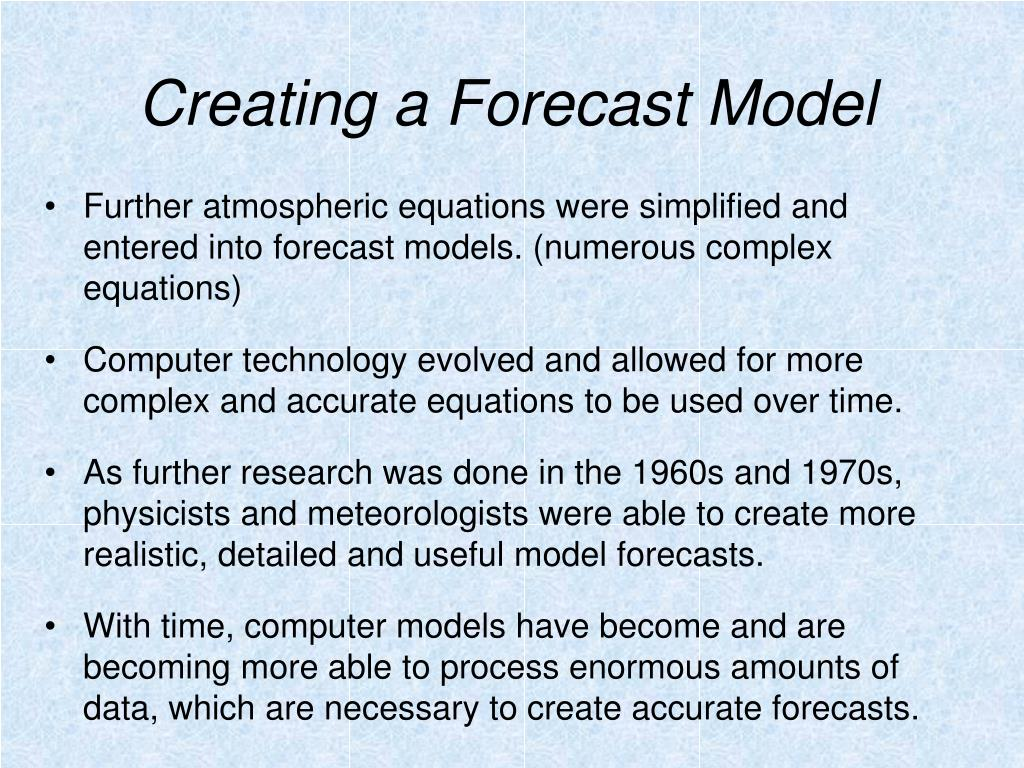 Creating a Forecast Model