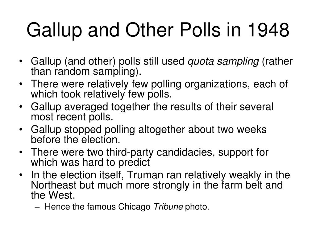 Gallup and Other Polls in 1948