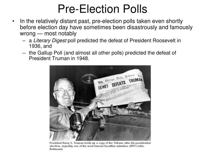 Pre election polls