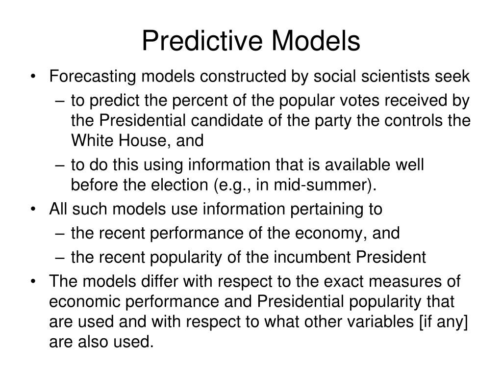 Predictive Models