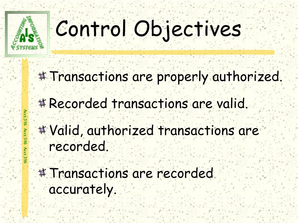 Control Objectives