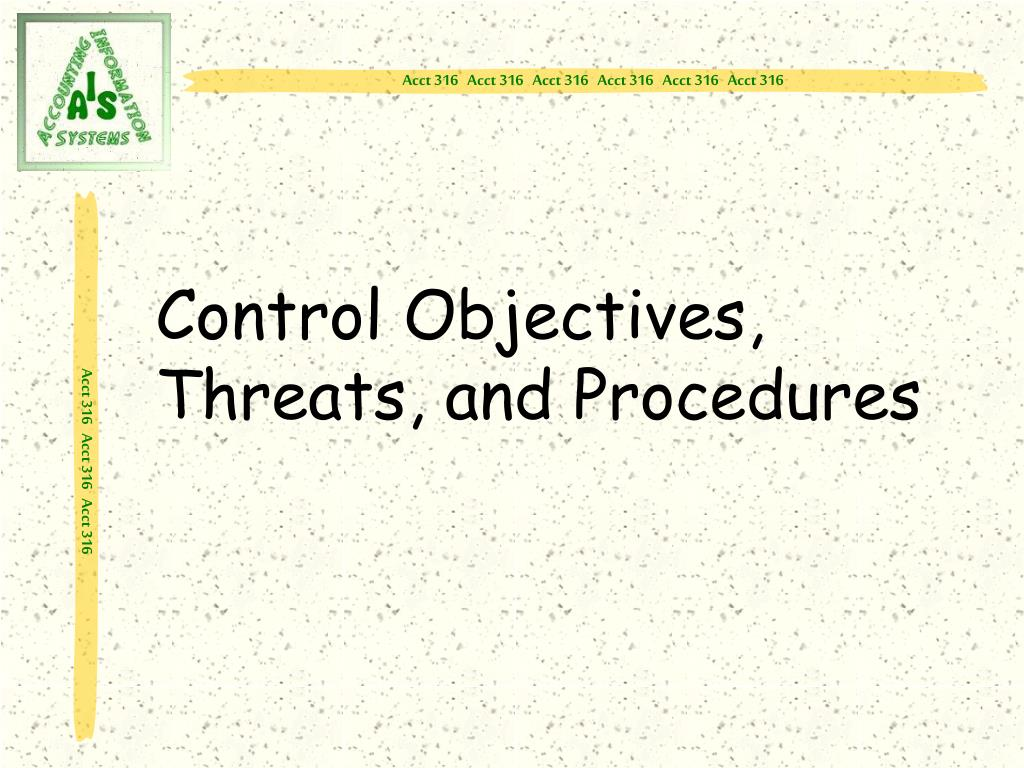 Control Objectives, Threats, and Procedures