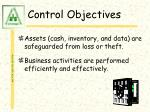 control objectives45