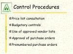 control procedures56