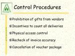control procedures57