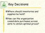 key decisions7