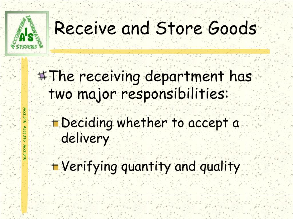 Receive and Store Goods