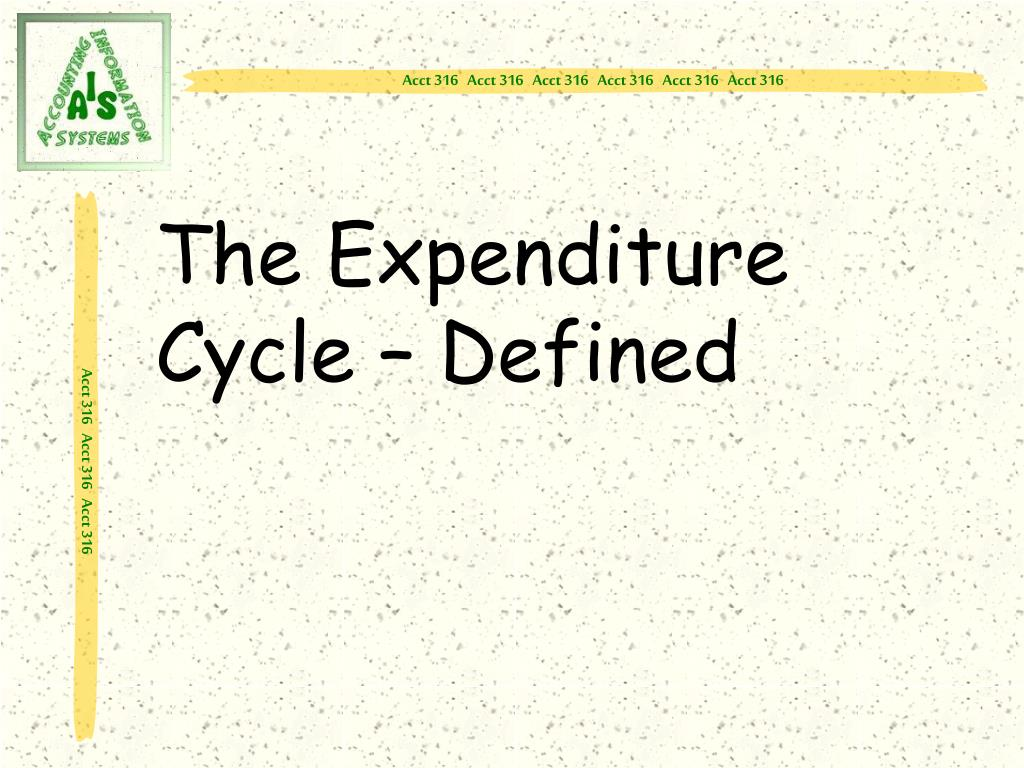 The Expenditure Cycle – Defined