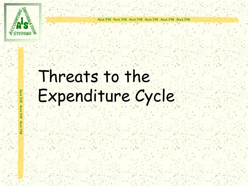 Threats to the Expenditure Cycle