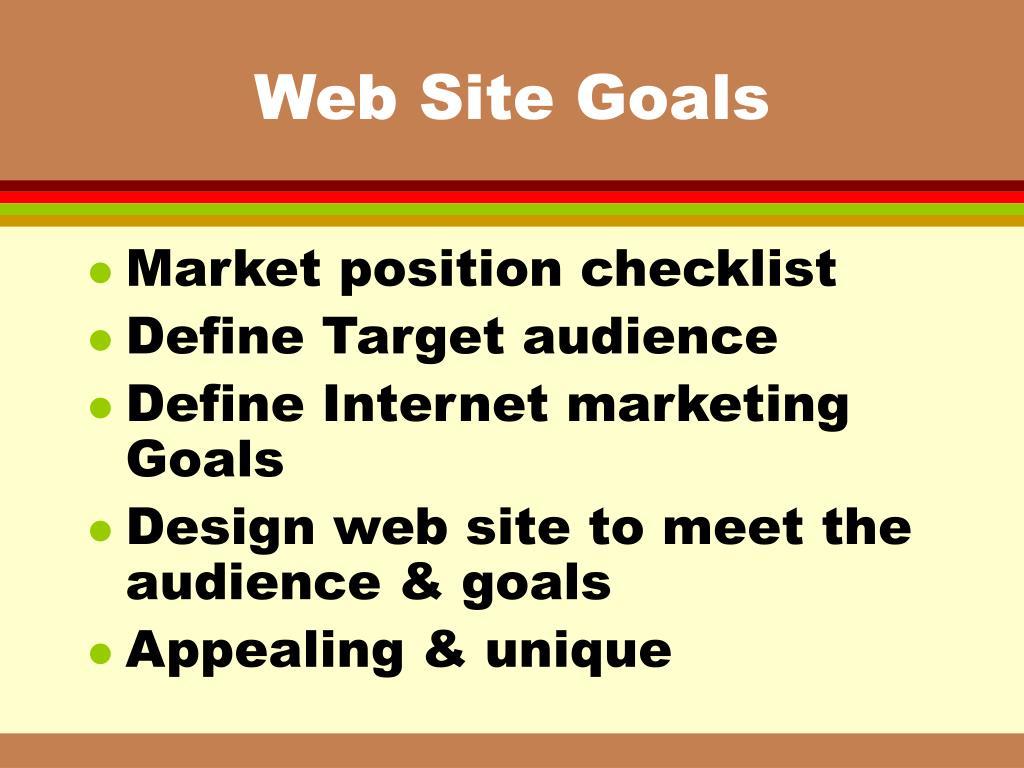 Web Site Goals