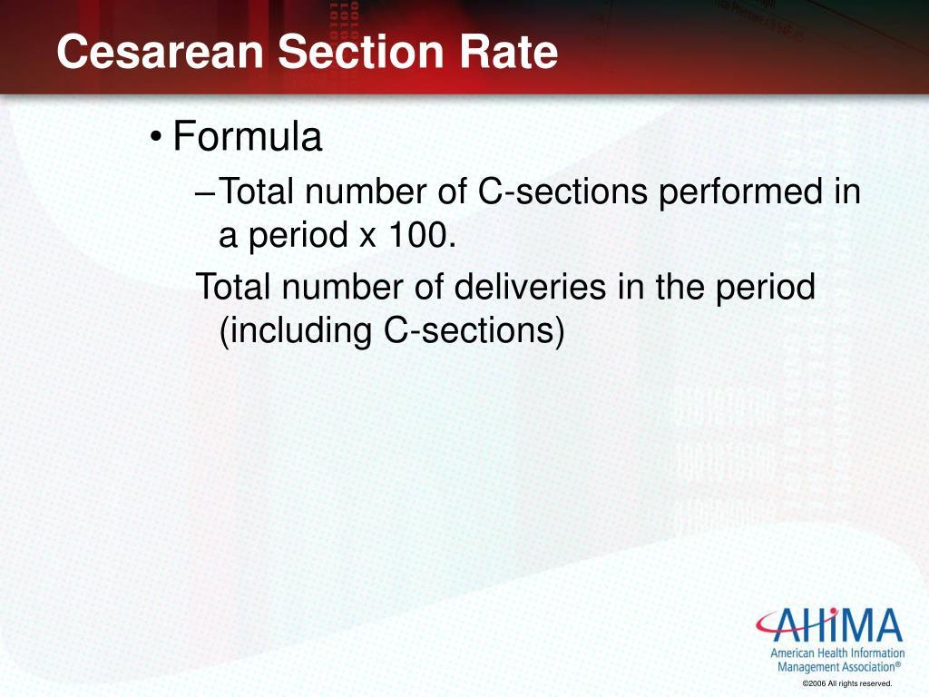 Cesarean Section Rate