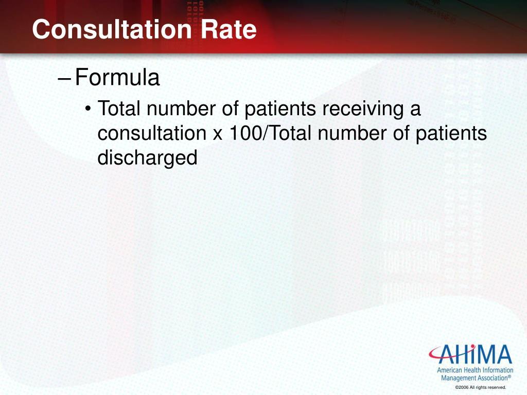 Consultation Rate