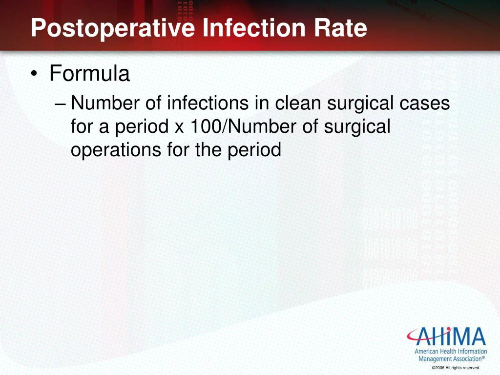 Postoperative Infection Rate