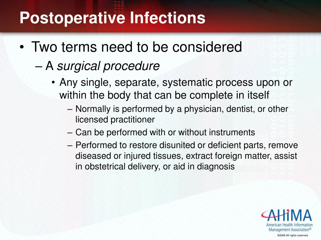 Postoperative Infections