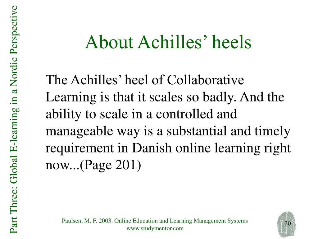 About Achilles' heels