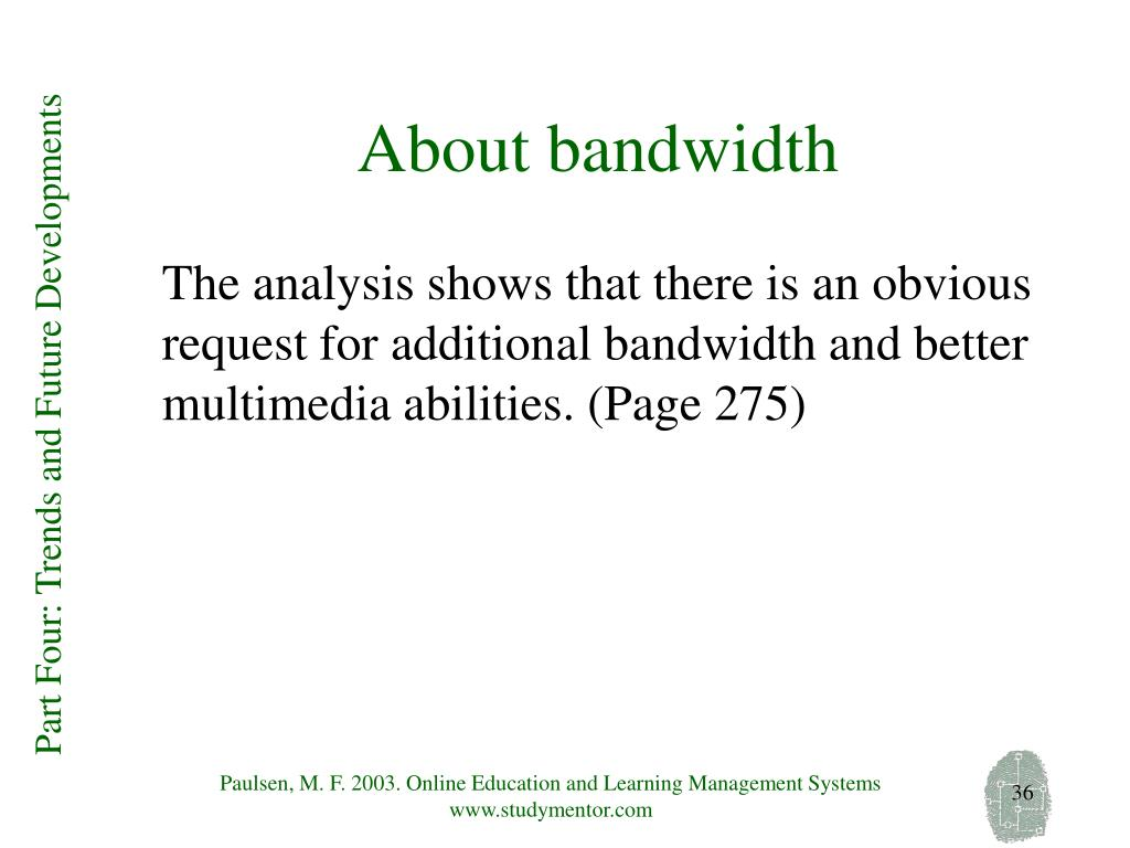 About bandwidth