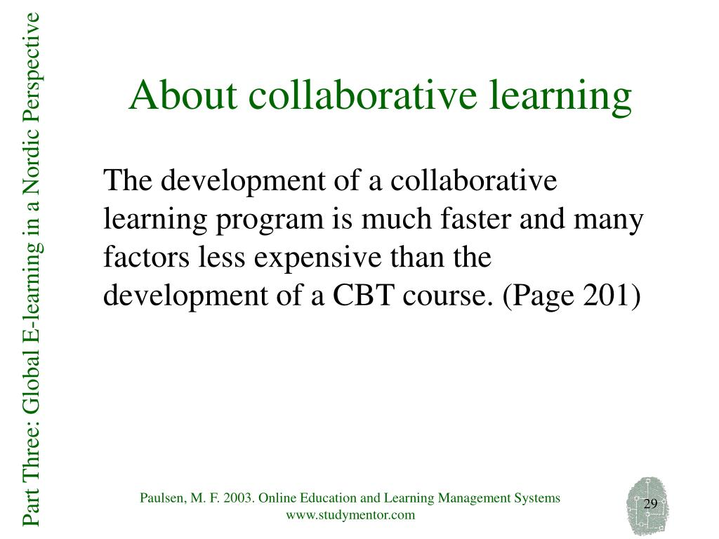 About collaborative learning