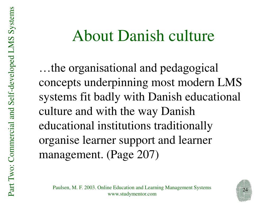 About Danish culture