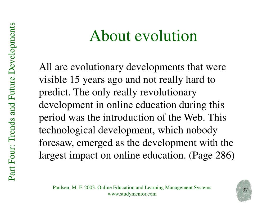 About evolution
