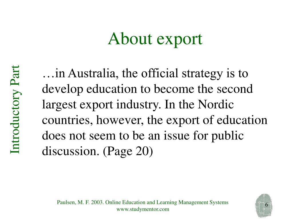 About export