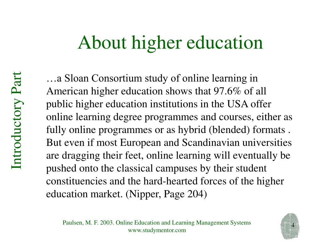 About higher education