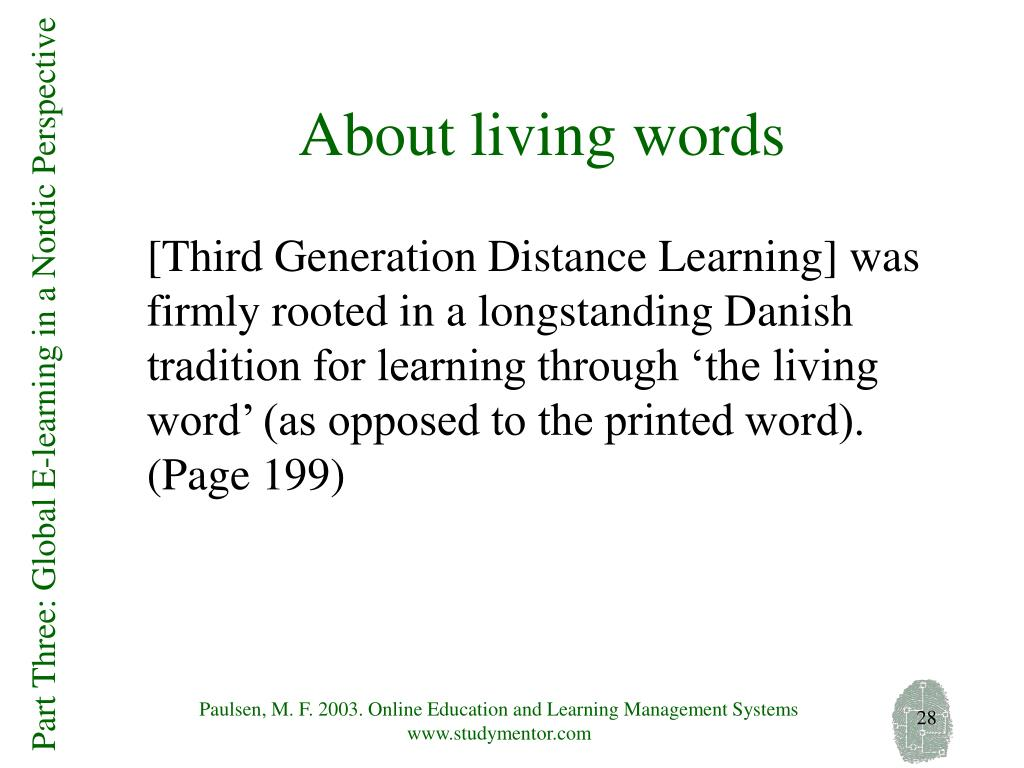 About living words