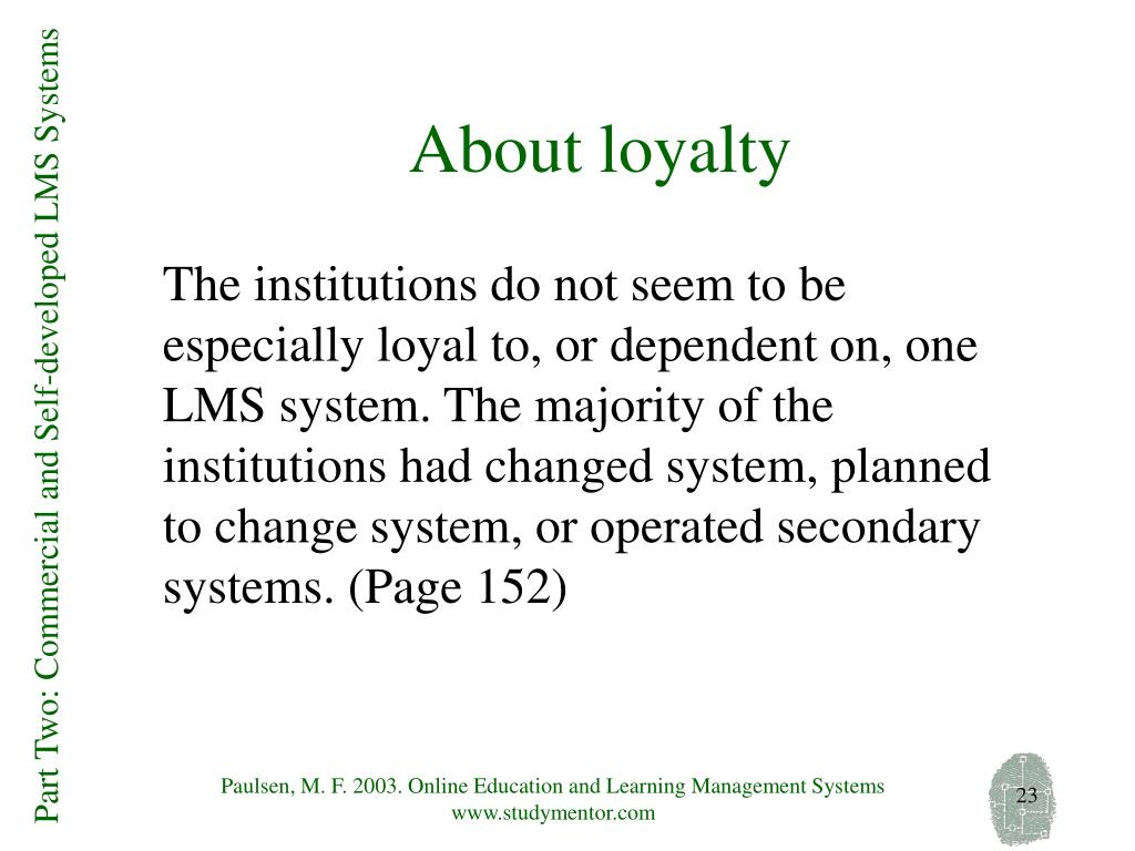 About loyalty