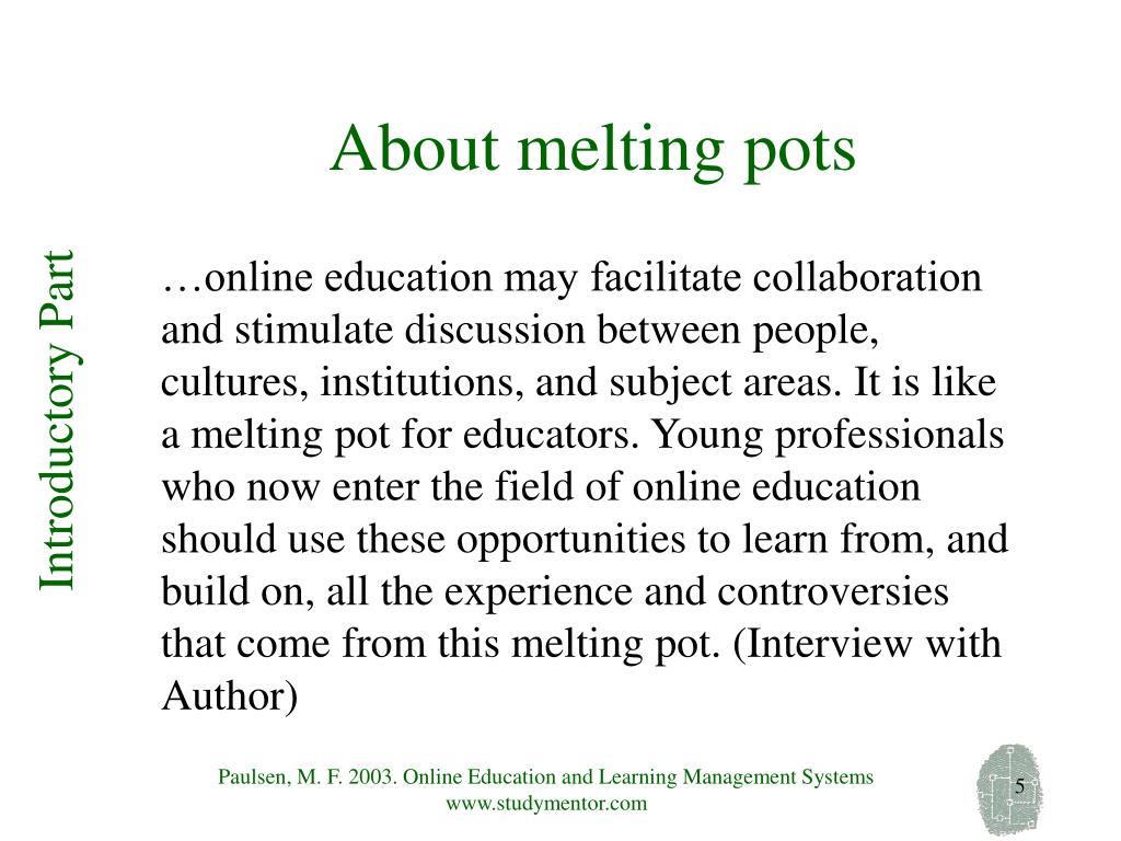 About melting pots