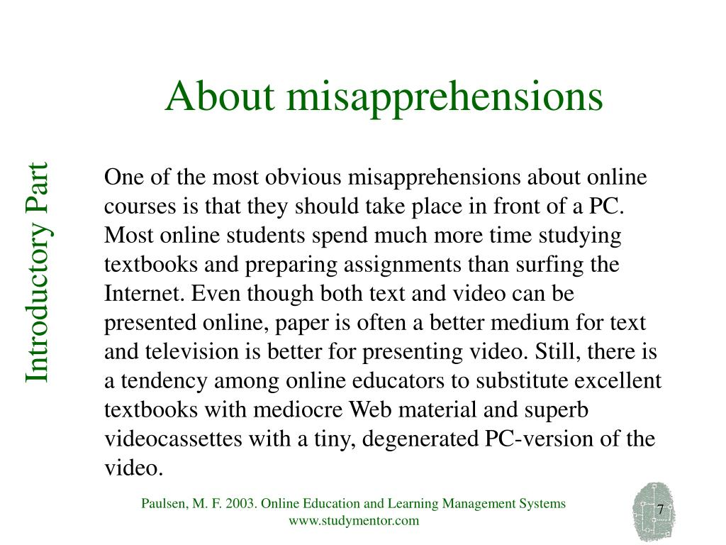 About misapprehensions