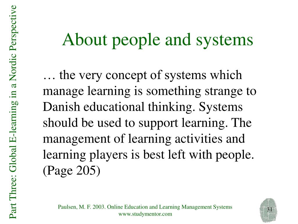 About people and systems