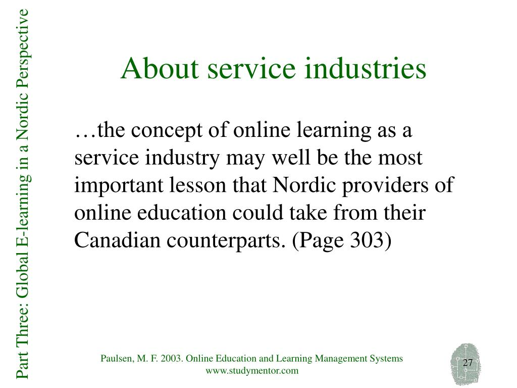About service industries