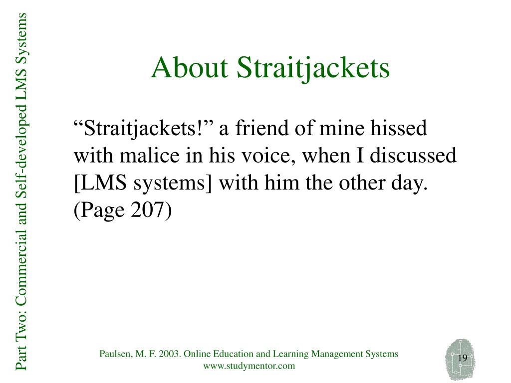 About Straitjackets