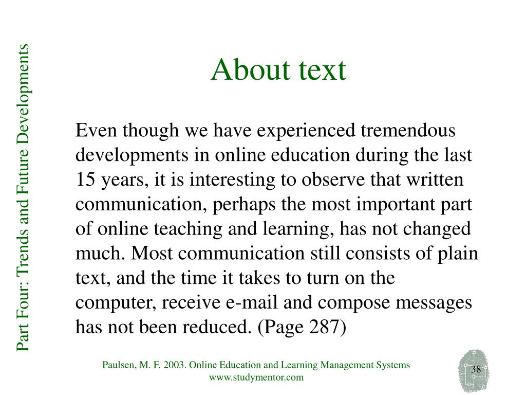 About text
