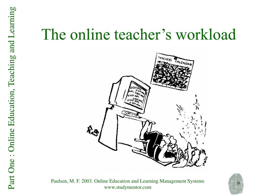 The online teacher's workload