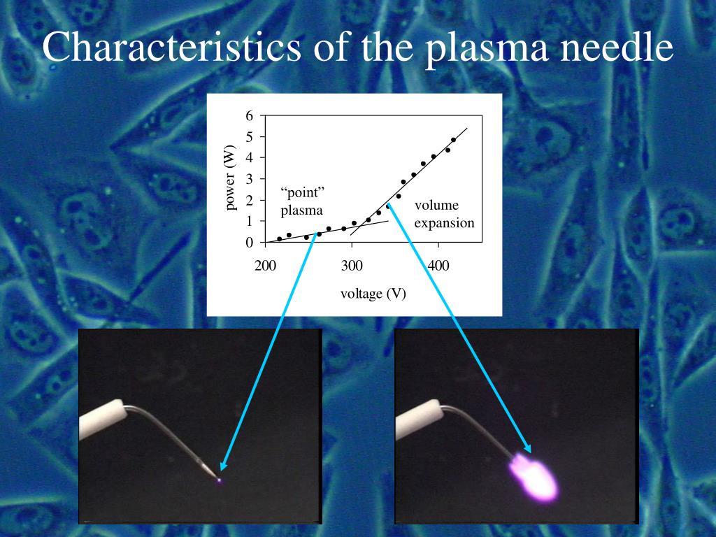 Characteristics of the plasma needle