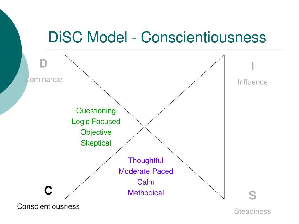 DiSC Model - Conscientiousness