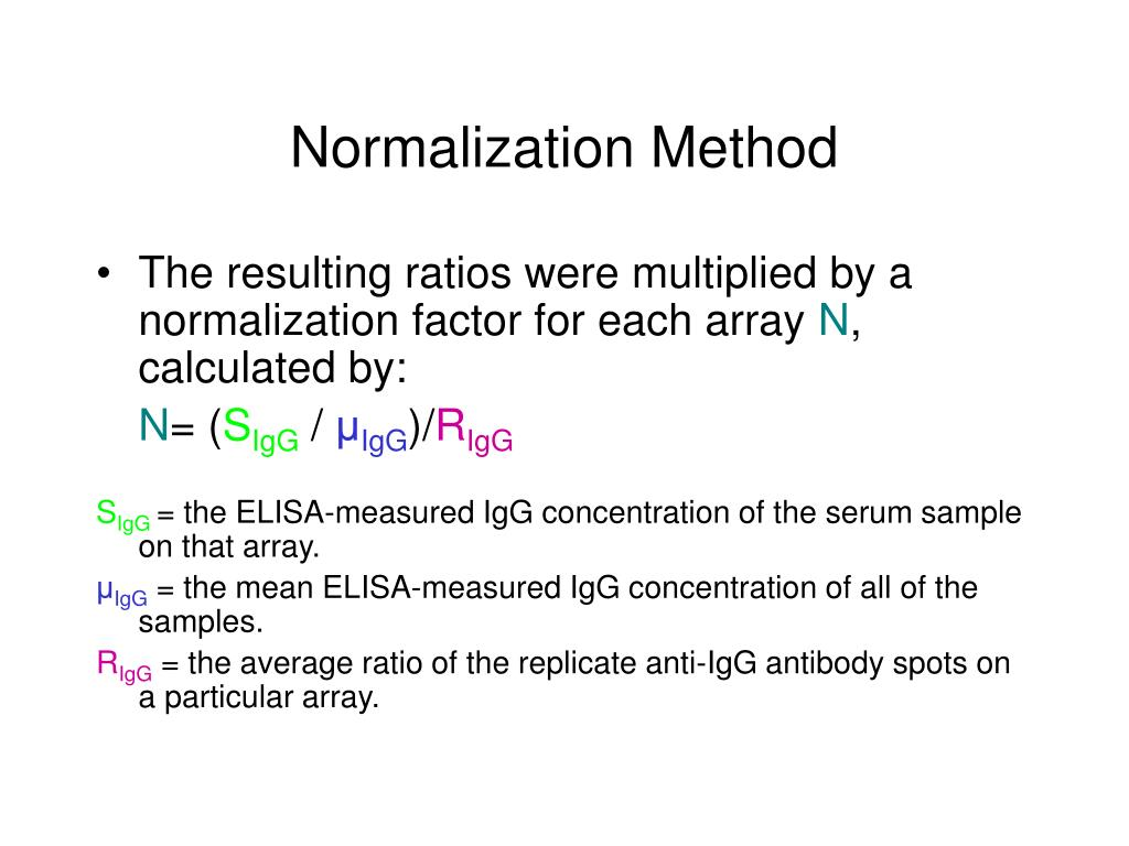 Normalization Method