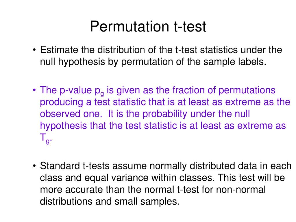 Permutation t-test