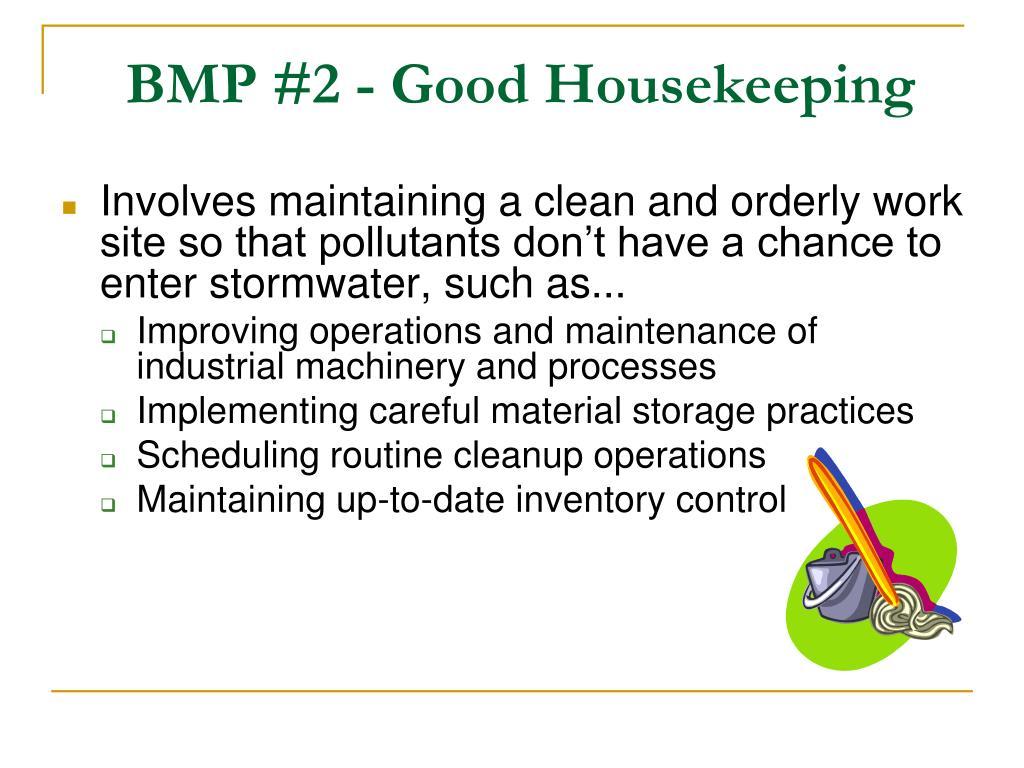 BMP #2 - Good Housekeeping