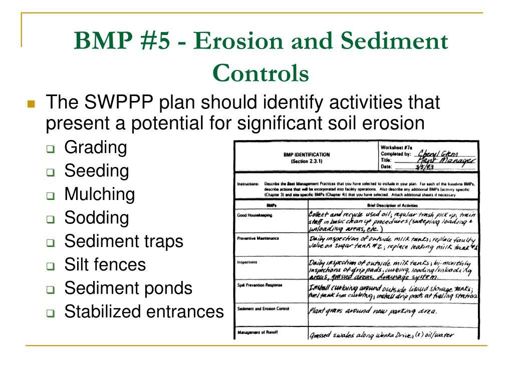 BMP #5 - Erosion and Sediment Controls