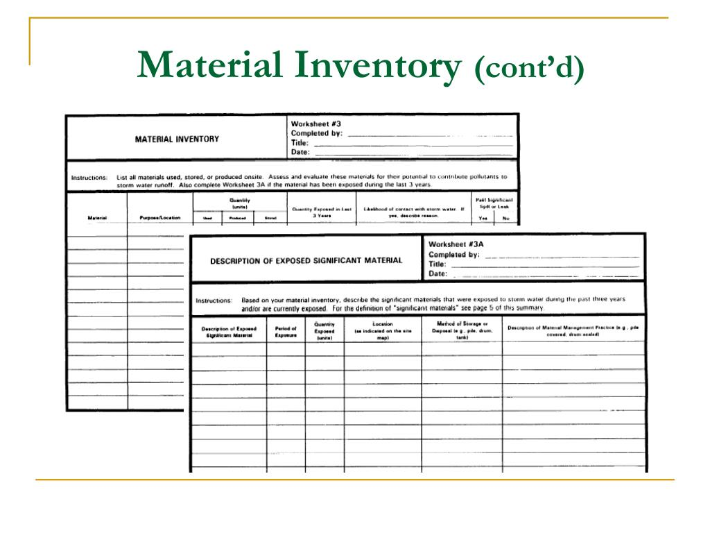 Material Inventory