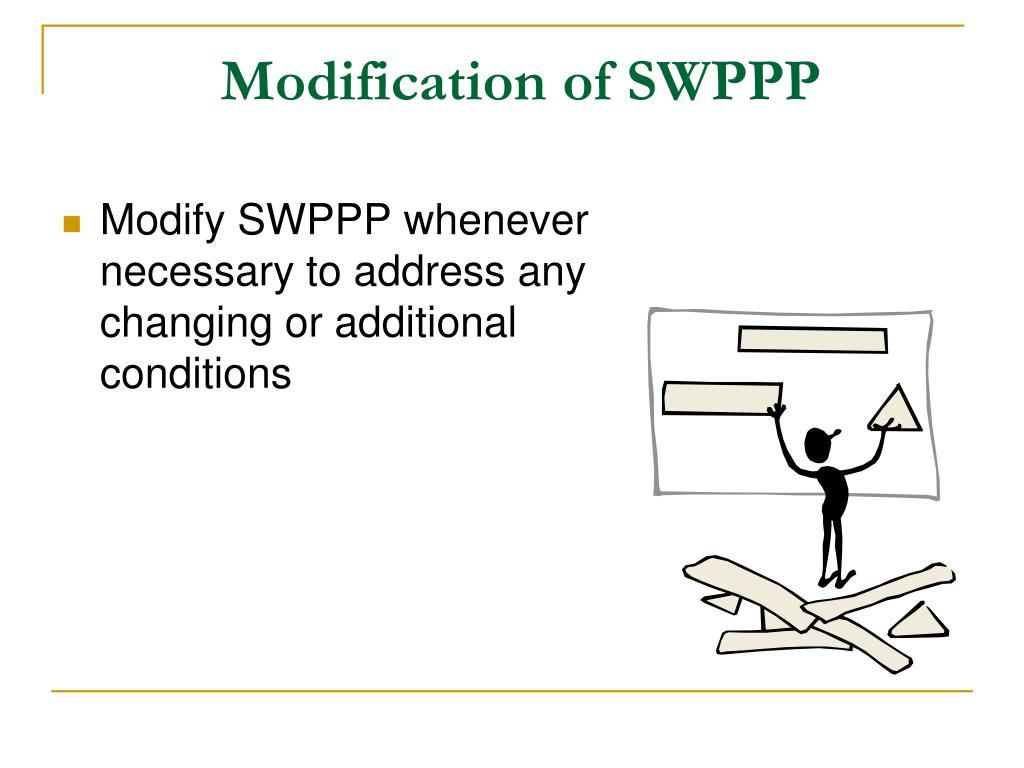 Modification of SWPPP