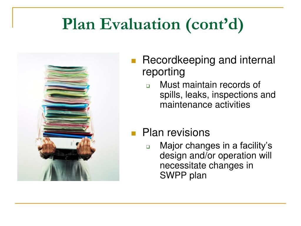 Plan Evaluation (cont'd)