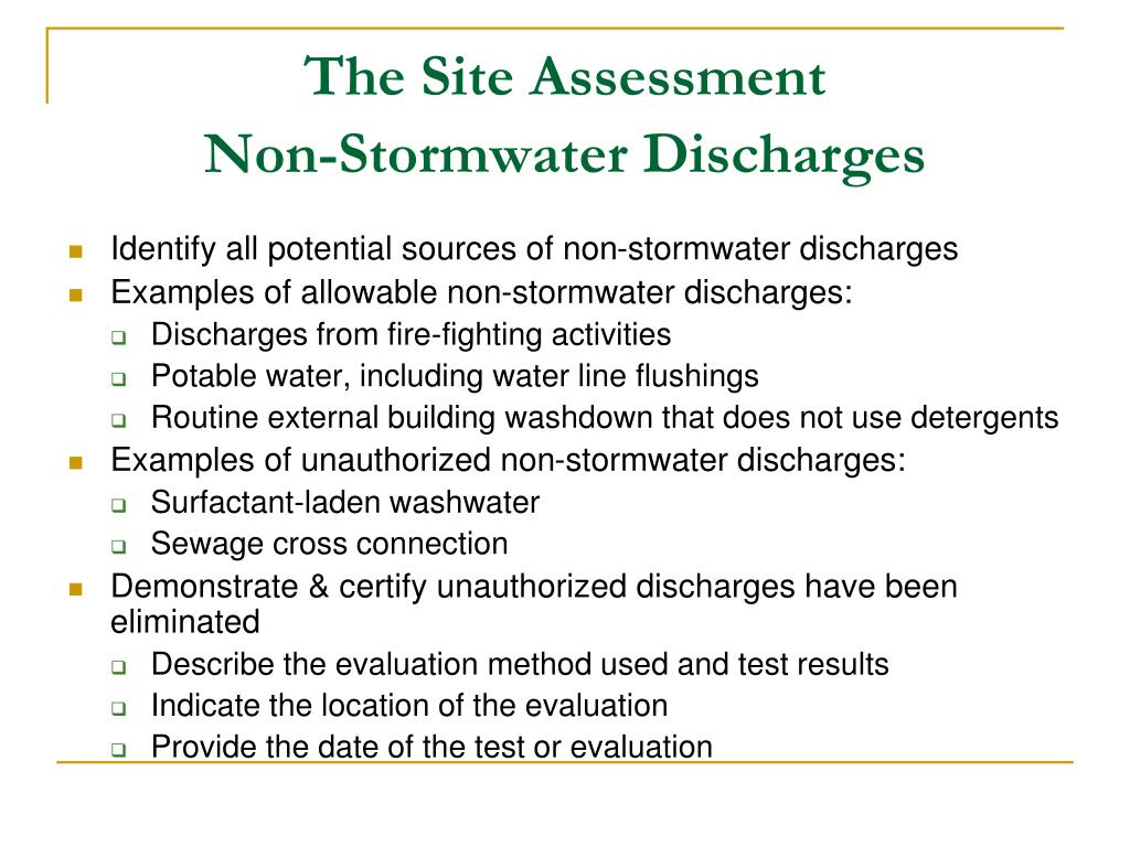 The Site Assessment